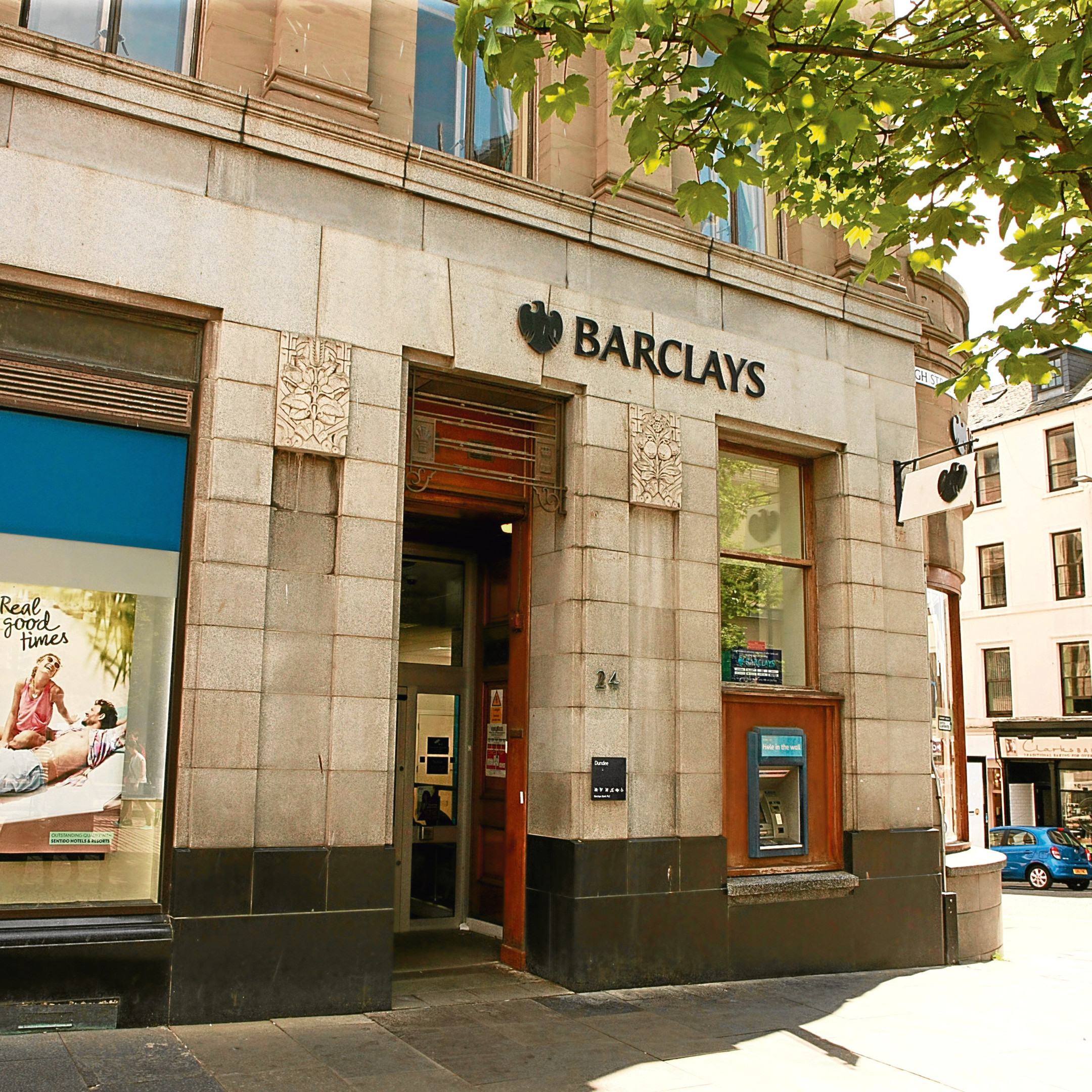 Barclays bank in Dundee city centre