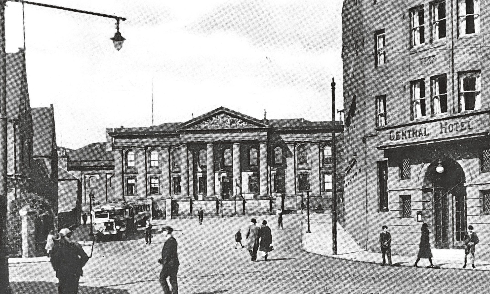 An old archive image Court House Square in Dundee
