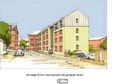 An artist's impression of what a new development of properties at Raglan Street in Stobswell will look like when completed.