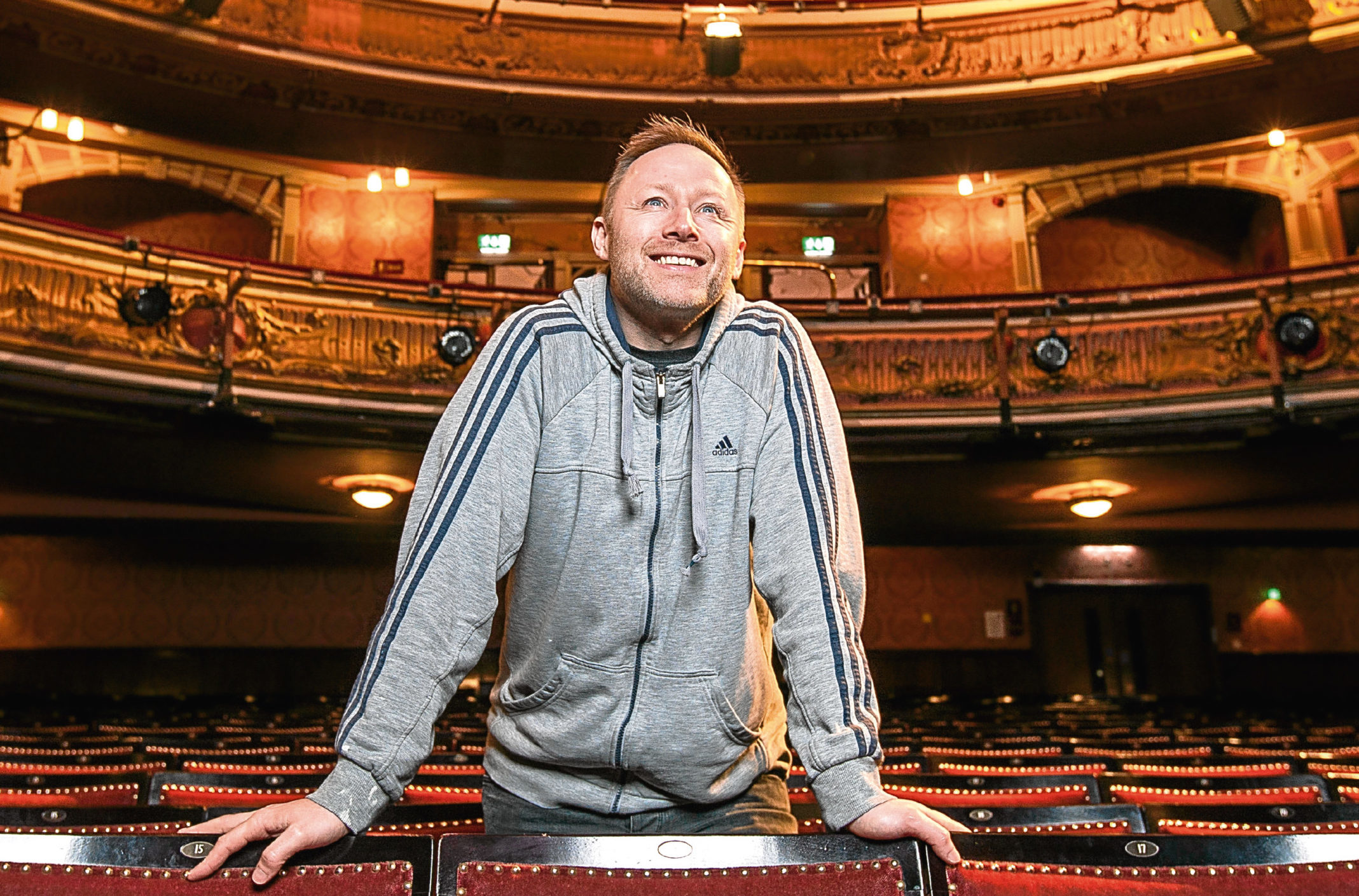 Limmy, real name Brian Limond, at the Kings Theatre, Glasgow