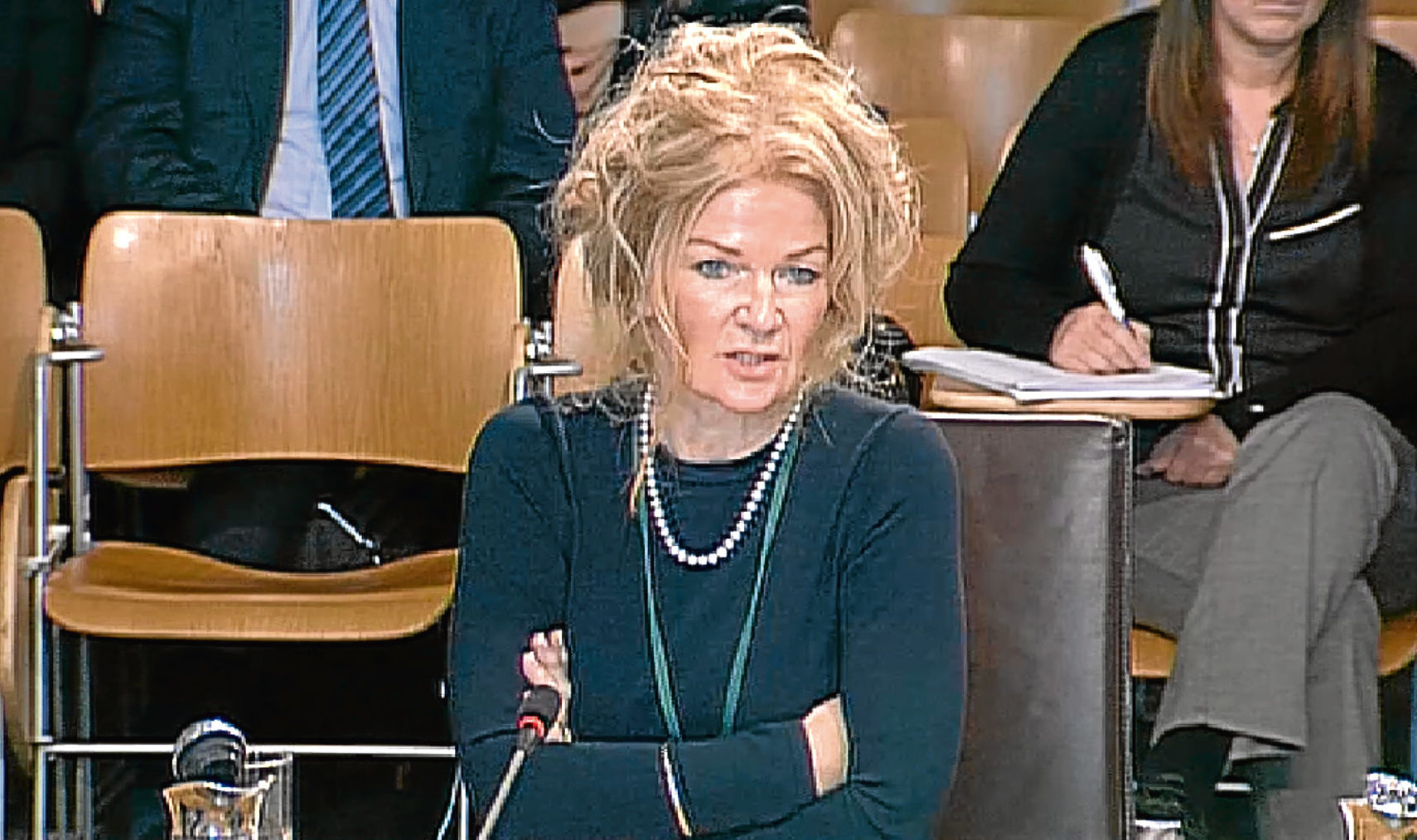 Lesley McLay at the Holyrood's public audit committee