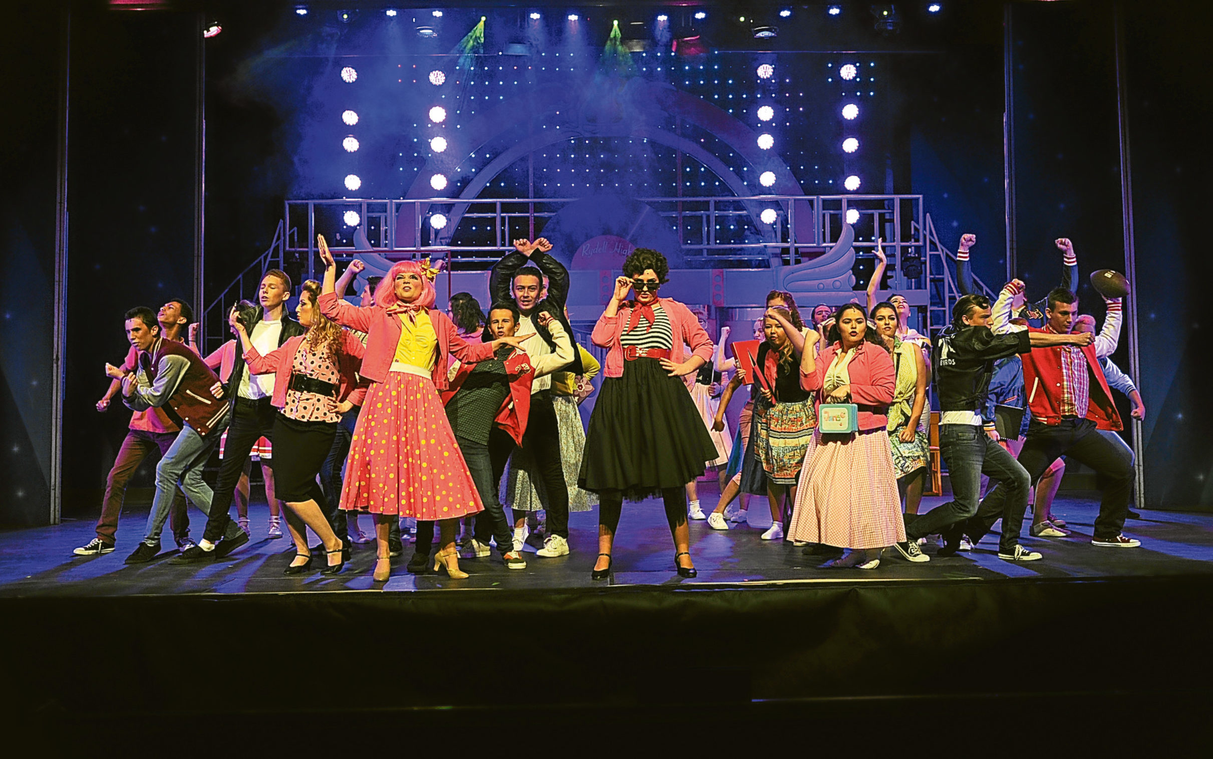 Dundee Schools Music Theatre's production of Grease in 2015.