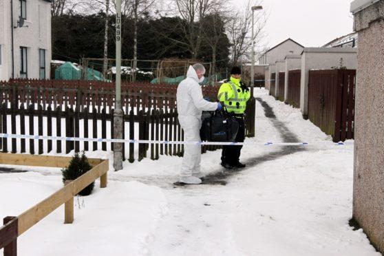 Police activity in Hazel Court, Alyth,