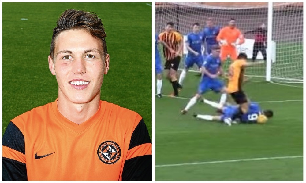 Jordan Garden went viral after conceding a penalty with his head while playing for Cowdenbeath