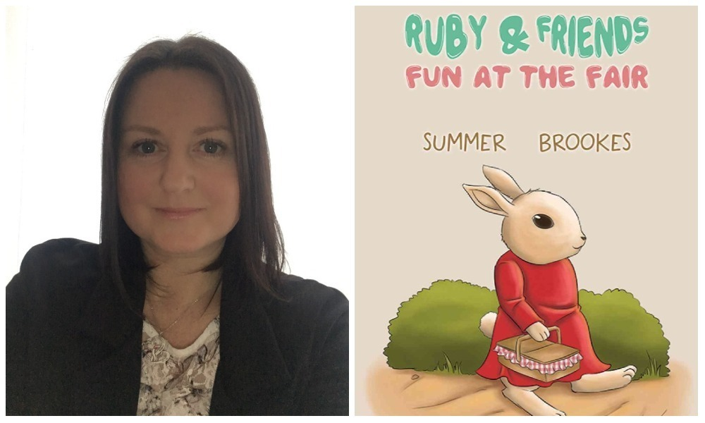 Kimberly Clifton, aka Summer Brookes, and the cover of her new book