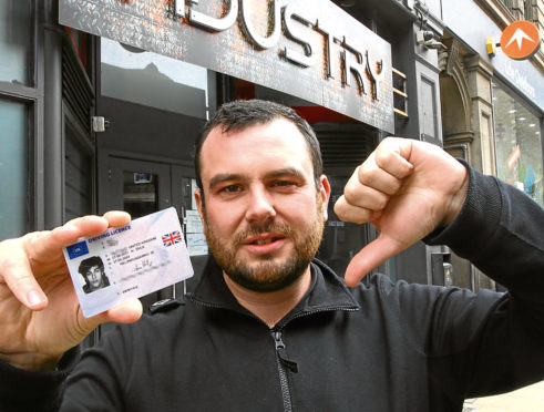 Industry Nightclub manager Grant Leslie, who spoke to Tele reporter Adam Hill about a new ID card his business is introducing in a bid to deter underage drinkers.