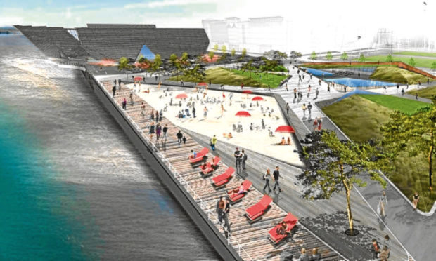 An artist's impression of the planned Waterfront Place development.