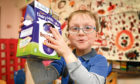 Leon Henderson (7) with the Easter Egg that he had chosen.