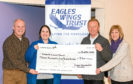 Dundee Photographic Society recently held a charity raffle in aid of The Eagles Wings Trust which helps the homeless in Dundee