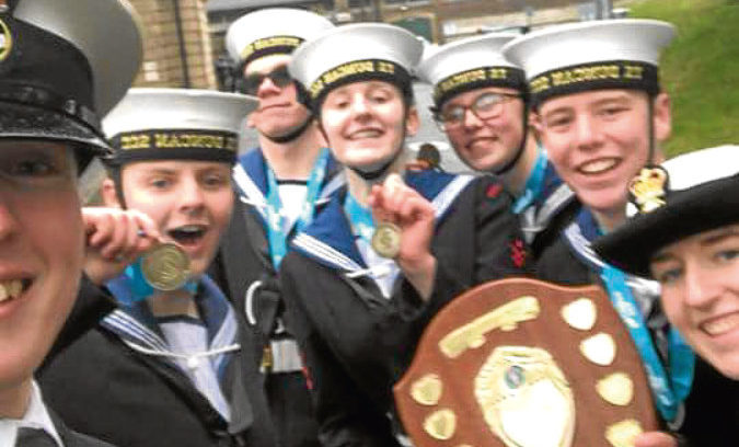 Sea Cadets  PO Kirsty Michie with Ellie, Tyler, Zara, Chloe and Aiden had a successful time Northern Area Drill and Piping Competition.