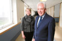 Health Secretary Shona Robison with new NHS Tayside Chief Executive Malcolm Wright