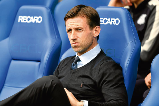 Dundee manager Neil McCann pictured ahead of kick off at Rangers on Saturday