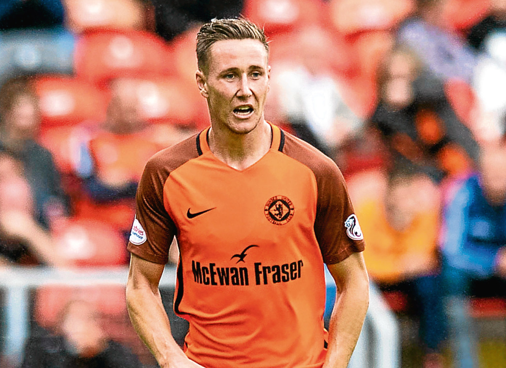 Dundee United midfielder Jordie Briels.