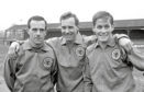 Then-Scotland Bobby Brown (centre) with Ronnie Simpson (left) and Jim McCalliog (right).