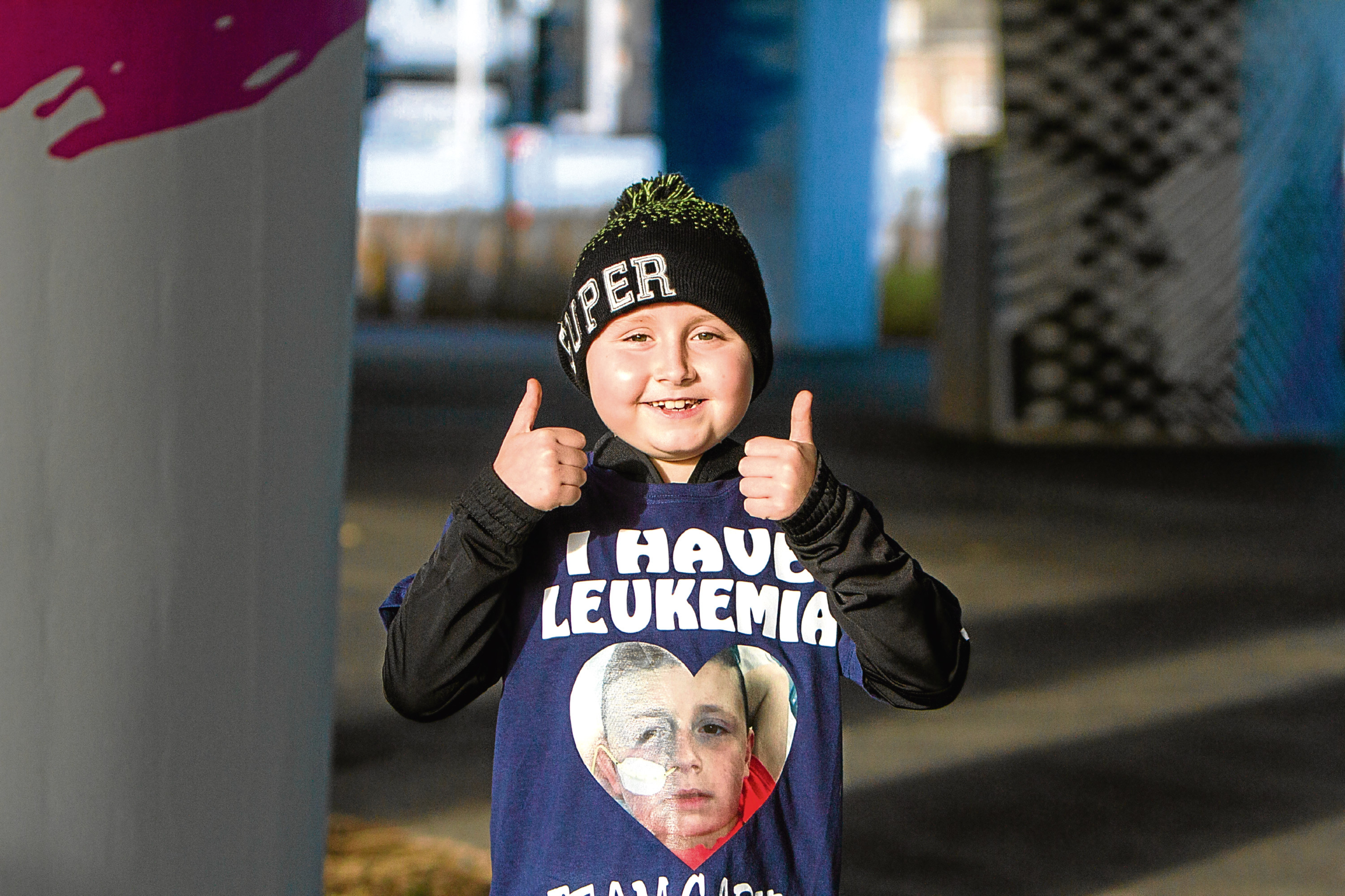 Young Garvie Winter who is battling leukemia