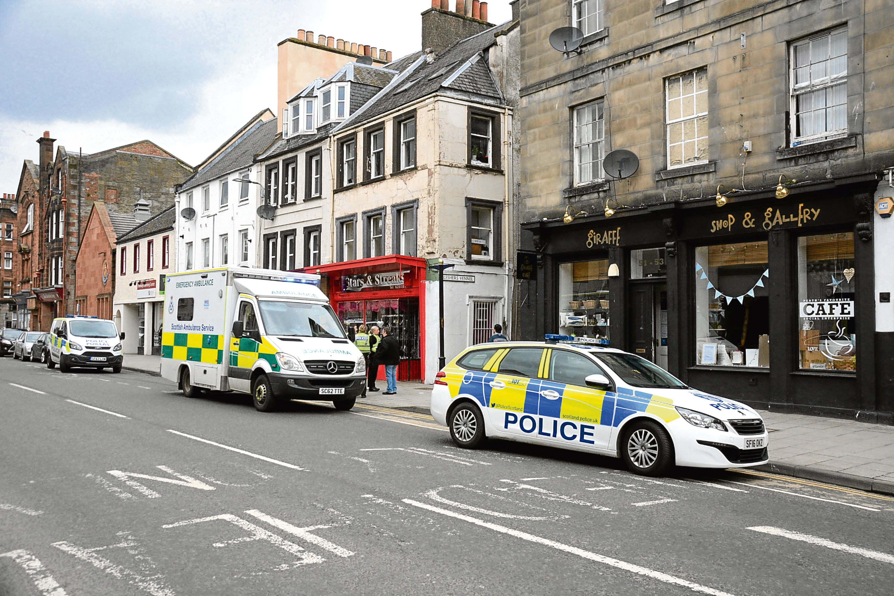 Police and Ambulance in South Street, Perth
