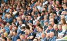 31/09/14 SCOTTISH PREMIERSHIP DUNDEE v CELTIC  DENS PARK - DUNDEE Dundee fans