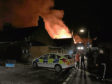The fire at Lochee Parish Church in September last year