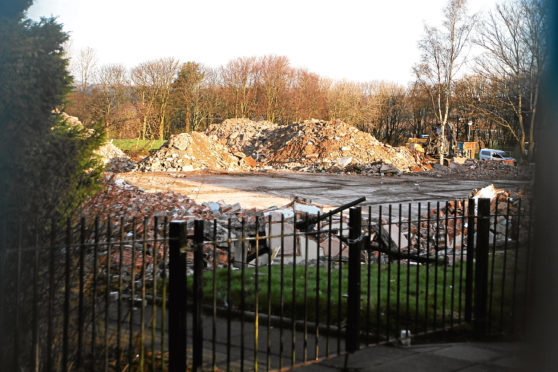 Demolition crews are still busy clearing the site of the former school.