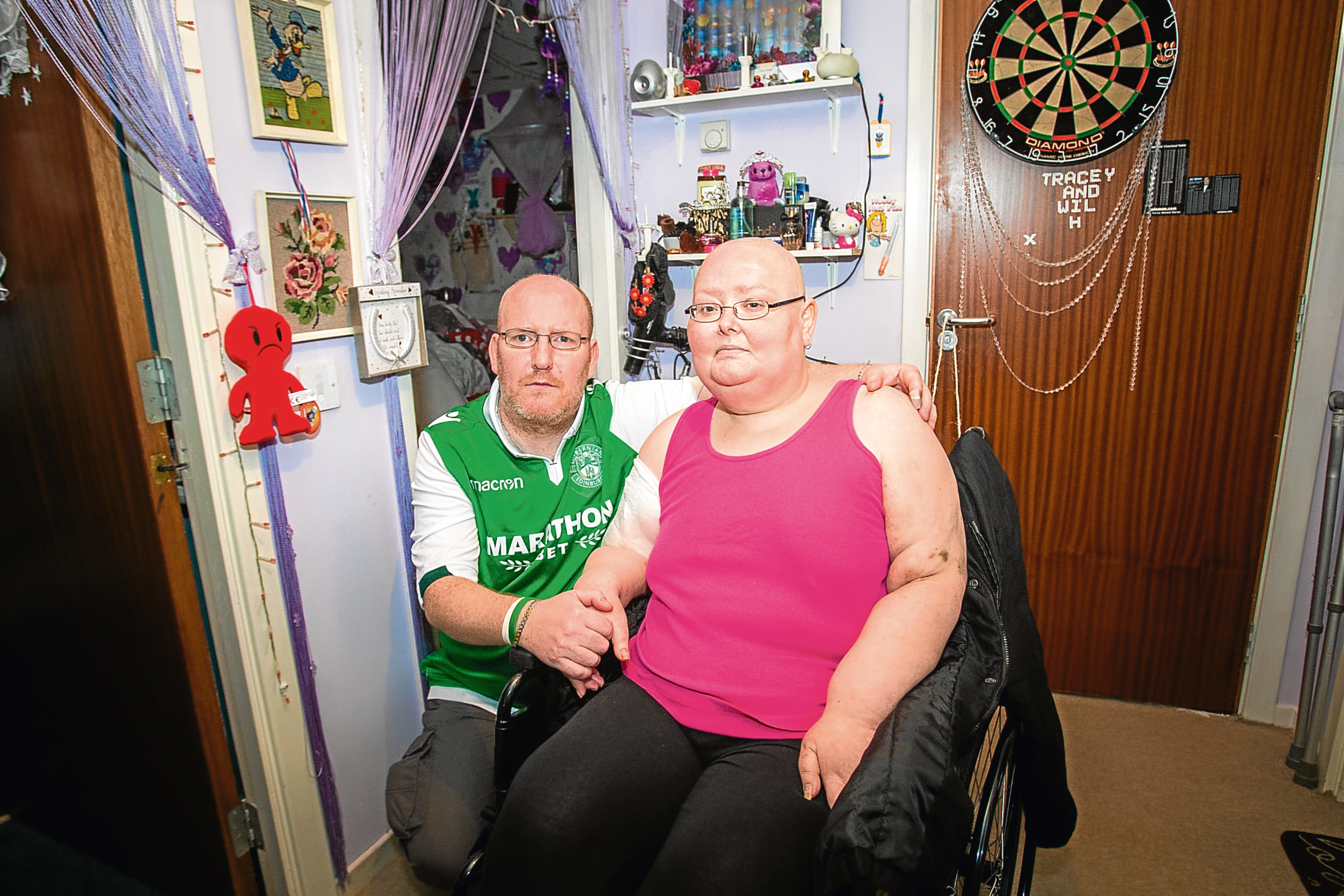Tracey and her Hibs-fan husband Willie.