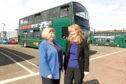 Retiring managing director Elsie Turbyne alongside  Christine McGlasson.