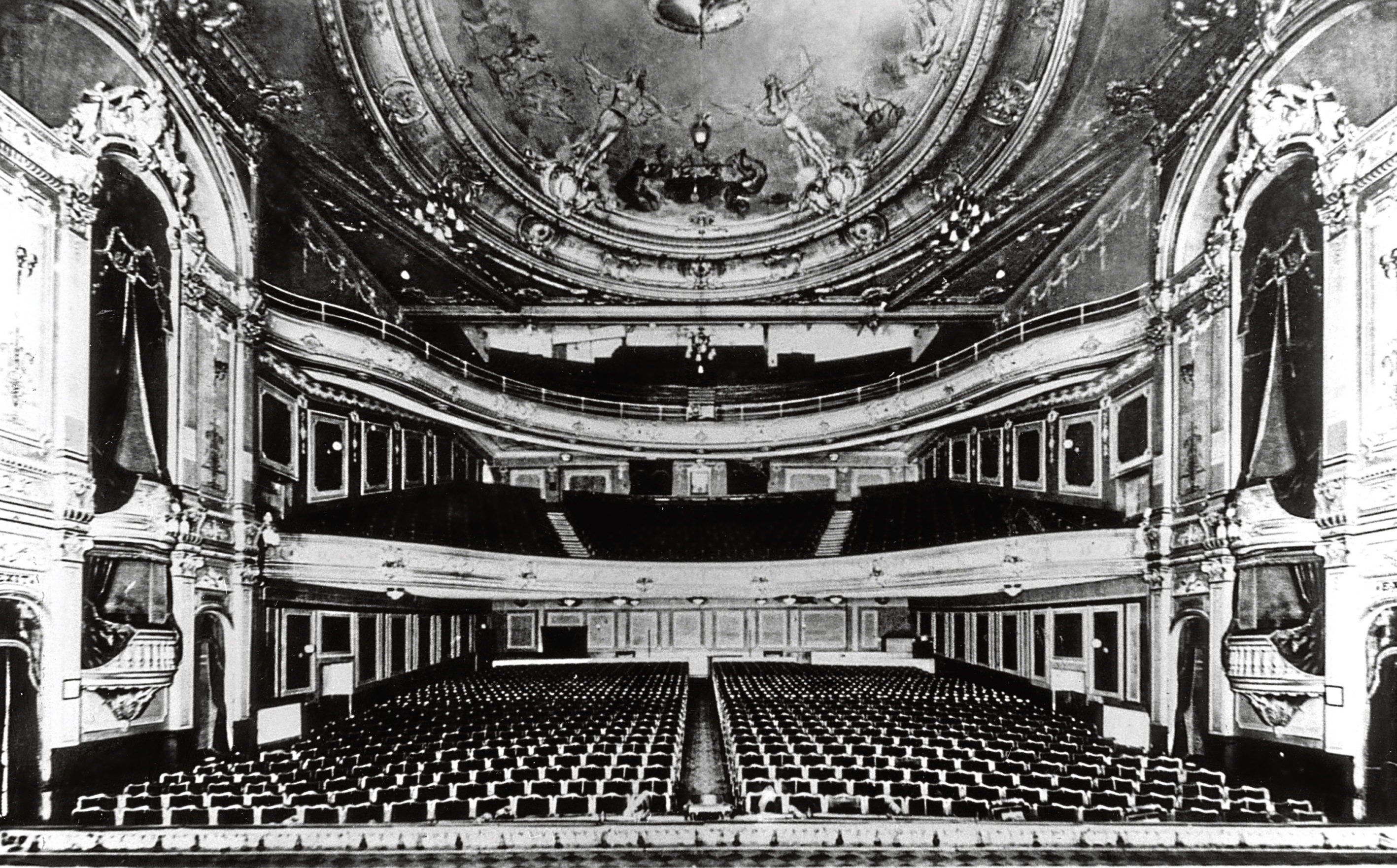 The magnificent auditorium of the King's Theatre in its heyday.