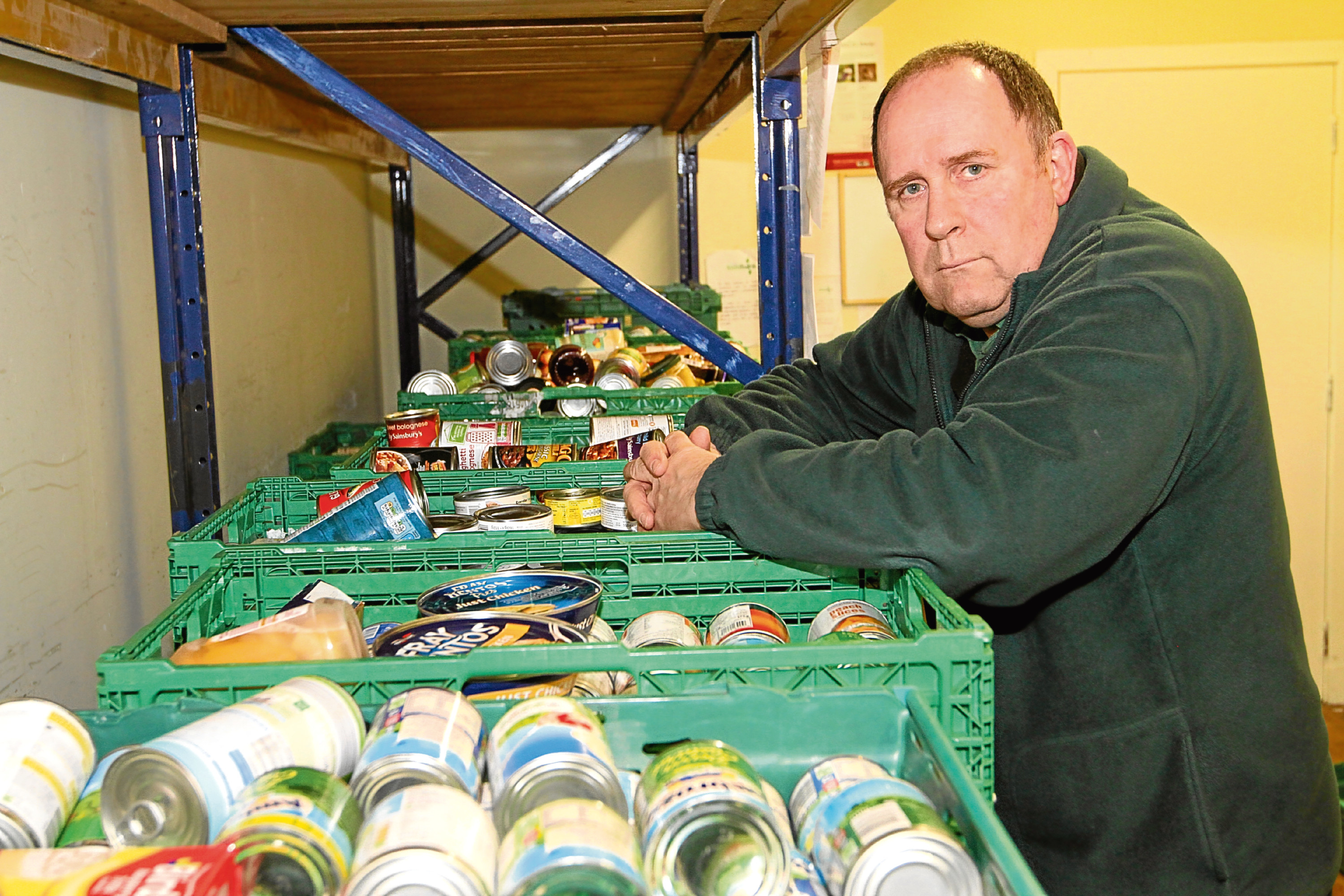 Ken Linton, manager of Dundee Foodbank, says they are always very busy with people dropping in.