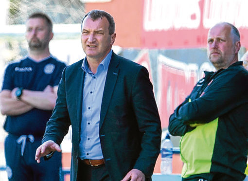 Dundee United gaffer Csaba Laszlo still has the chance to guide his side to the top flight.