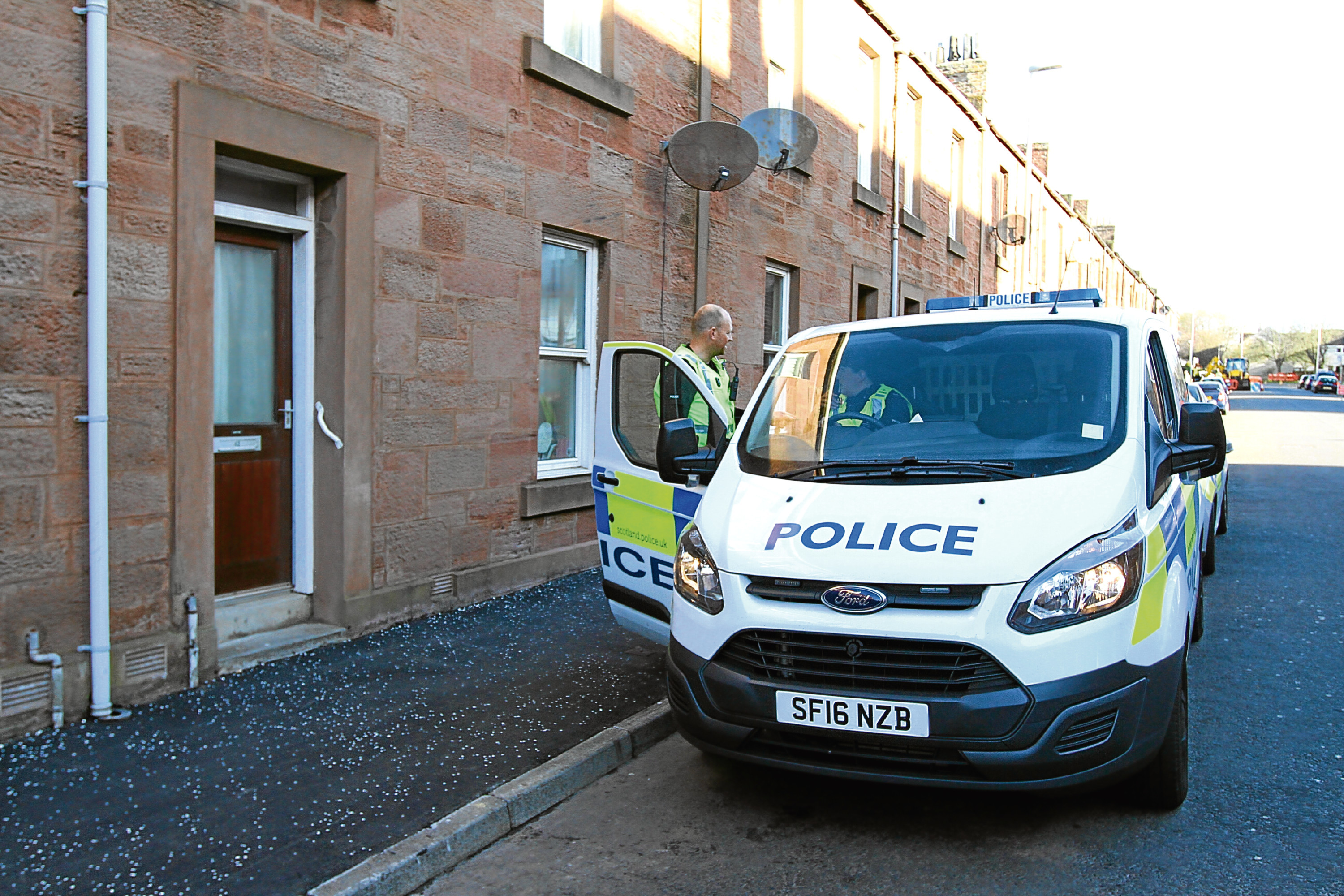 The alleged incident took place at St Vigeans Road, Arbroath