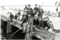 Back in the Day Saturday 28 April  Fishing seemed to be a popular way of passing the afternoon for these youngsters pictured at Broughty Ferry harbour yesterday.  6/7/1982.  H238 1982-07-06 Fishing at Broughty Ferry harbour (C)DCT