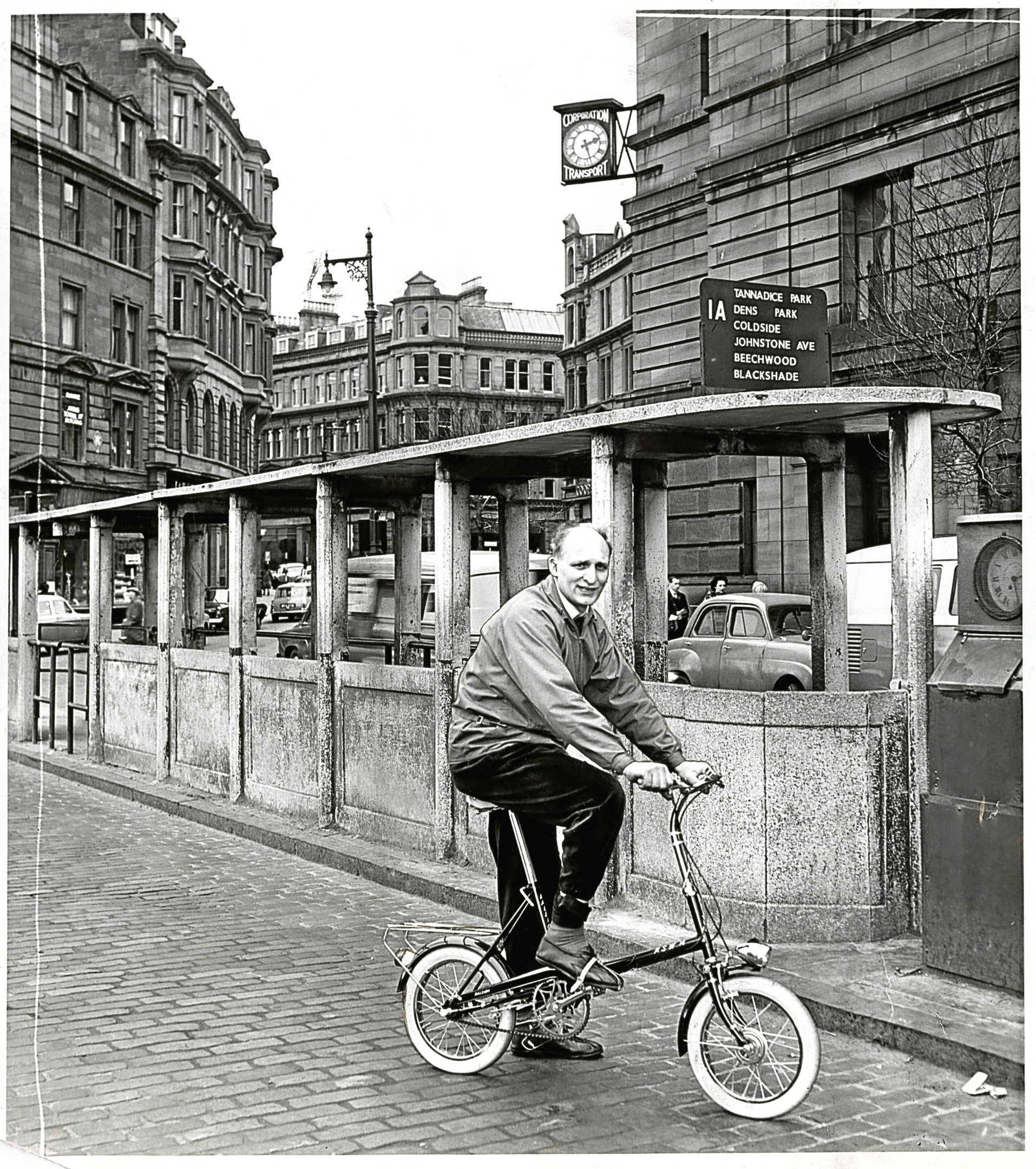 Back in the Day Saturday 28 April  Jack Nicholson, bicycle dealer, Arbroath Road, Dundee. 24/3/1966. A4072 1966-03-24 Jack Nicholson, bicycle dealer (C)DCT