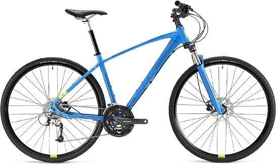 A blue Saracen Urban Cross mountain bike similar to the one stolen