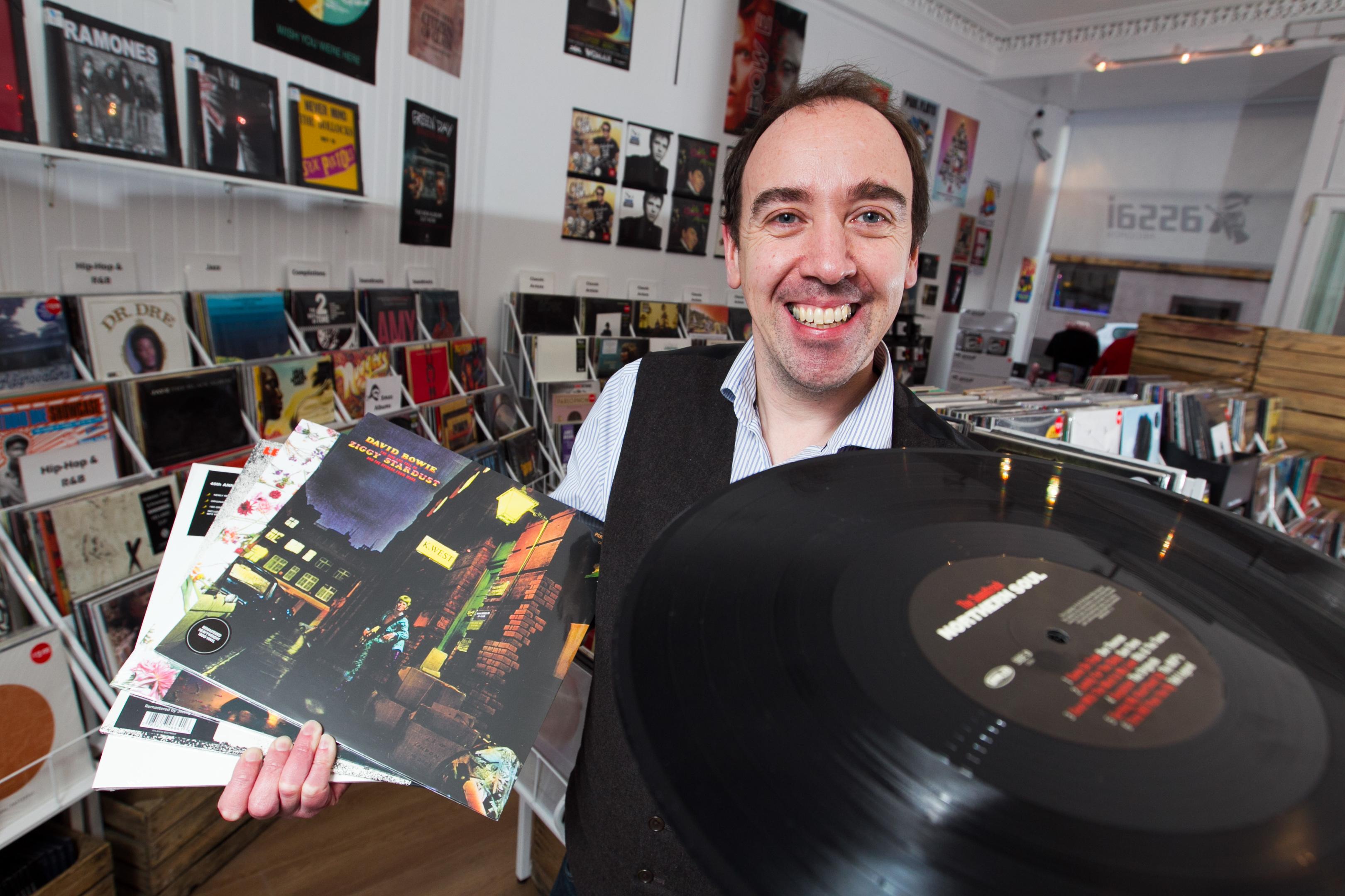 Keith Ingram, owner of Assai record shop