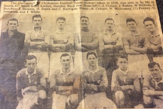 This is Clydemore FC from 1938