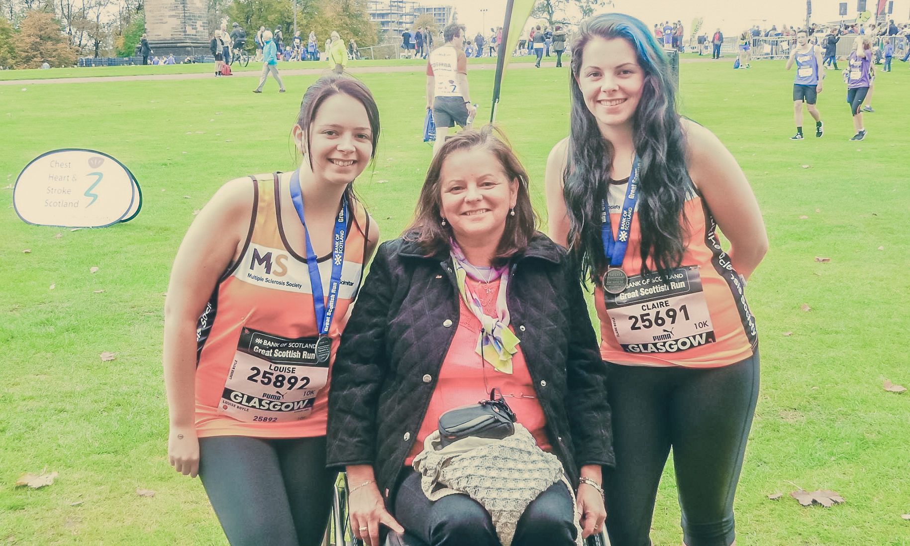 Louise Boyle, the late Margaret Theresa Kane (Claire's mother) and Claire Boyle attend a race together.