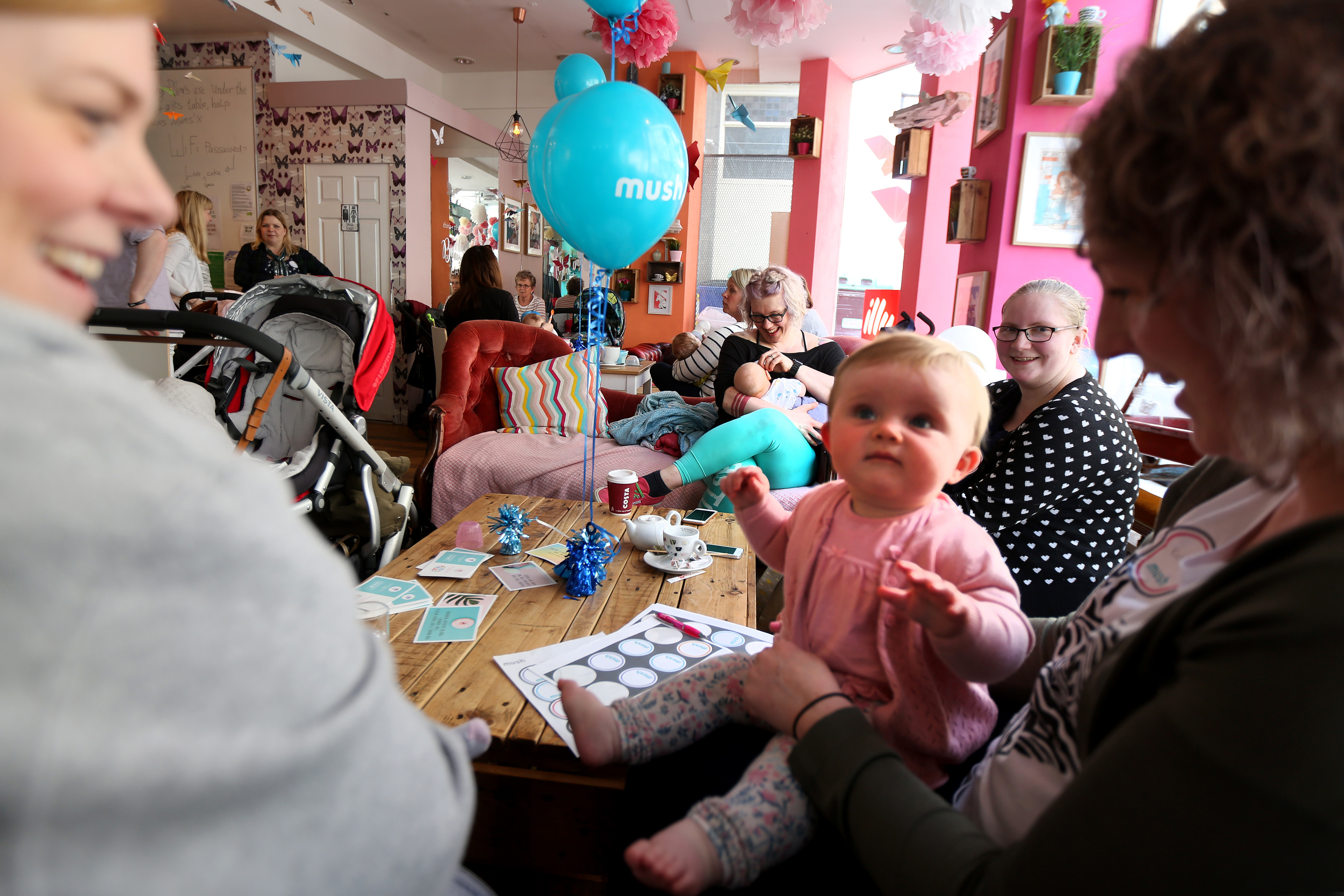 Parents get together at the Butterfly Cafe in the city centre