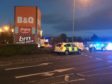 Police at Riverside Retail Park in Leven