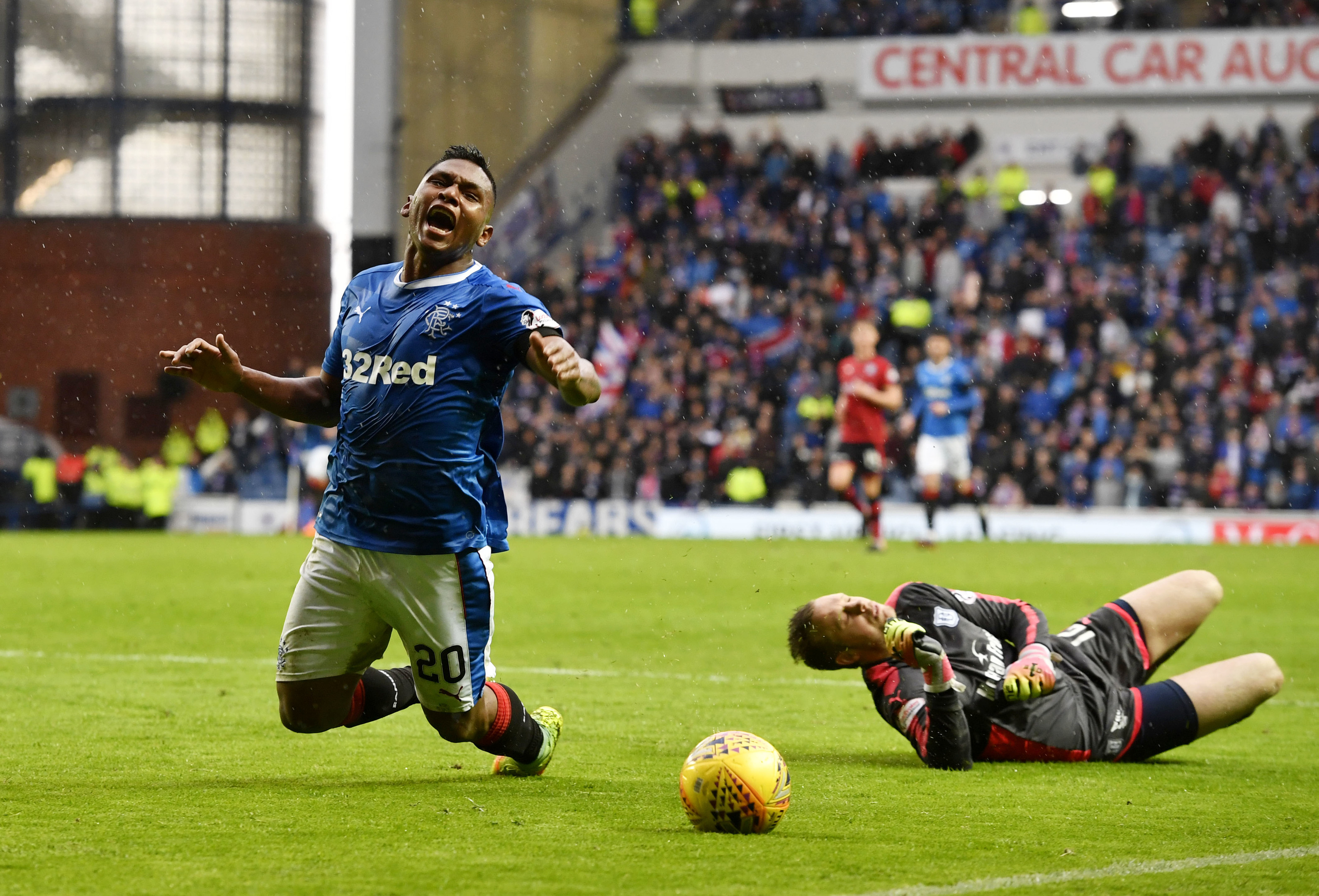 Alfredo Morelos was initially judged to have dived
