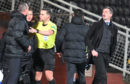Jack Ross, right, was unimpressed by Csaba Laszlo after last night's game.