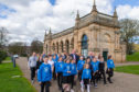 Youngsters get out to walk a Daily Mile in the city's Baxter Park