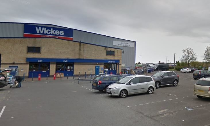 Wickes in Dundee, where the offence is alleged to have taken place.
