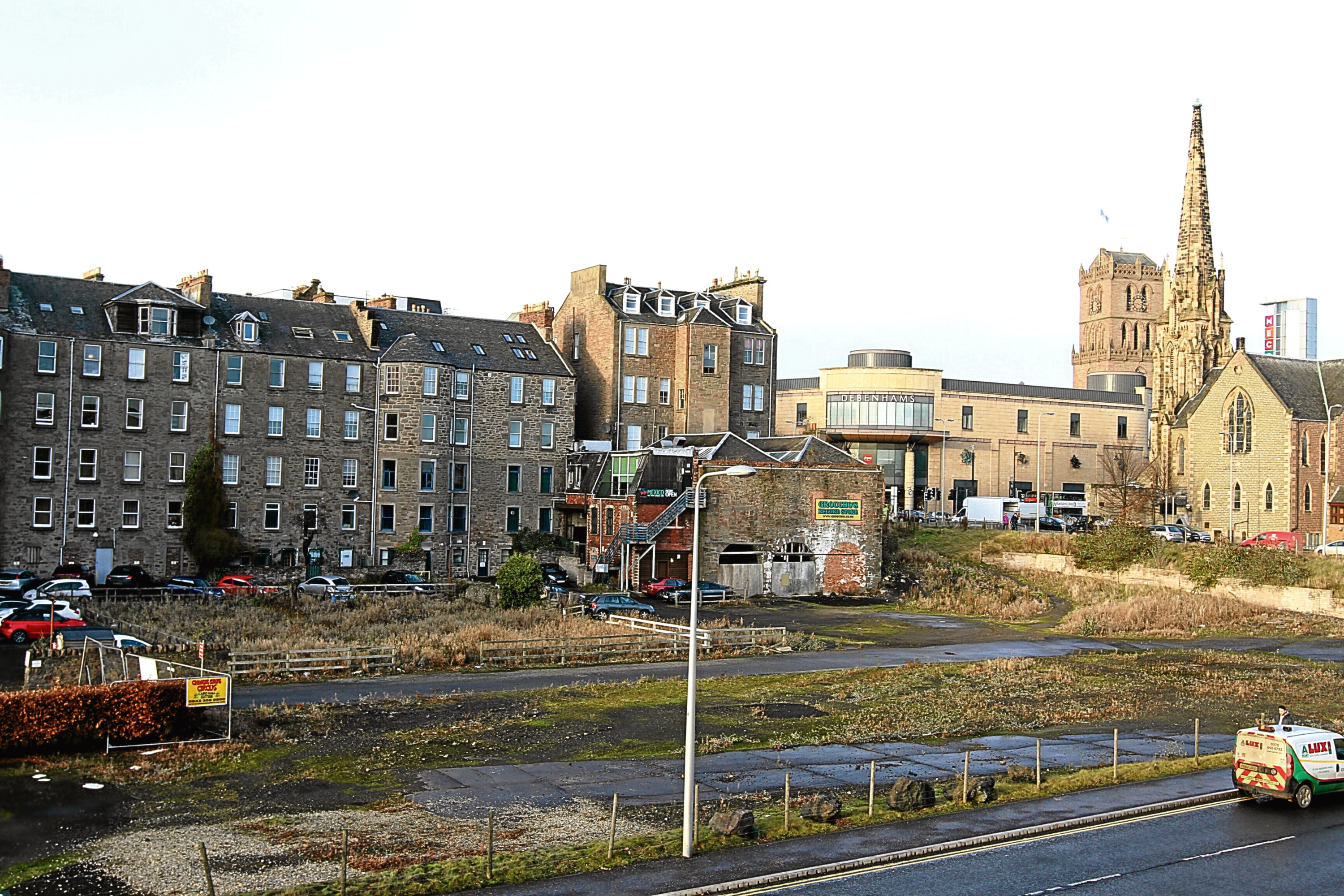 The site earmarked for a proposed cinema multiplex.