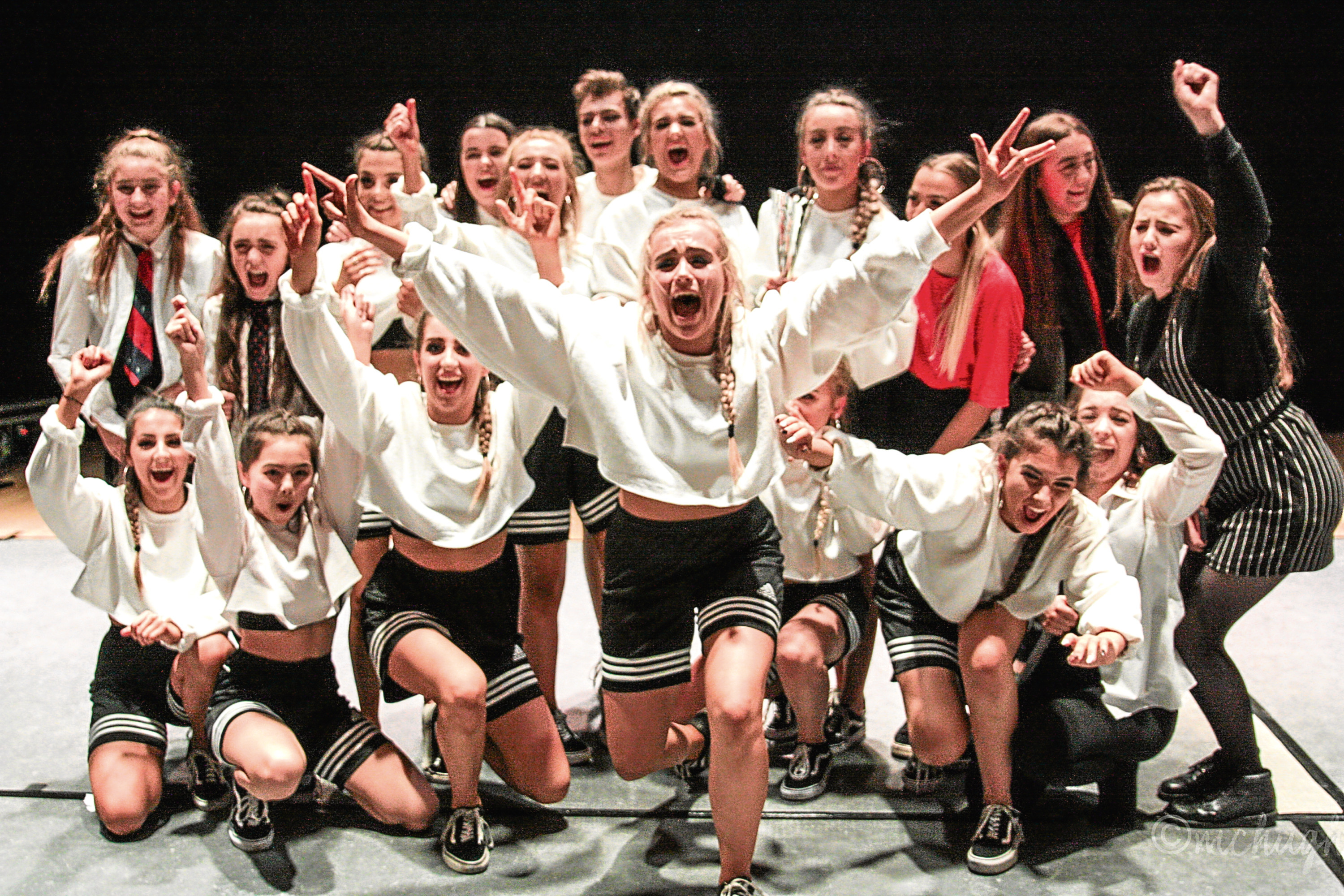Pictures from the Dundee Secondary Schools Dance Festival  Winning School St Paul's Academy