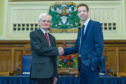 Dundee Lord Provost Ian Borthwick with council leader John Alexander