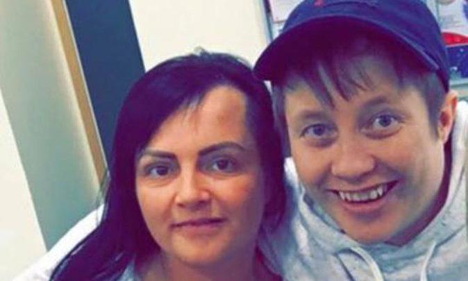 Mandy Stewart (left) with Wendy