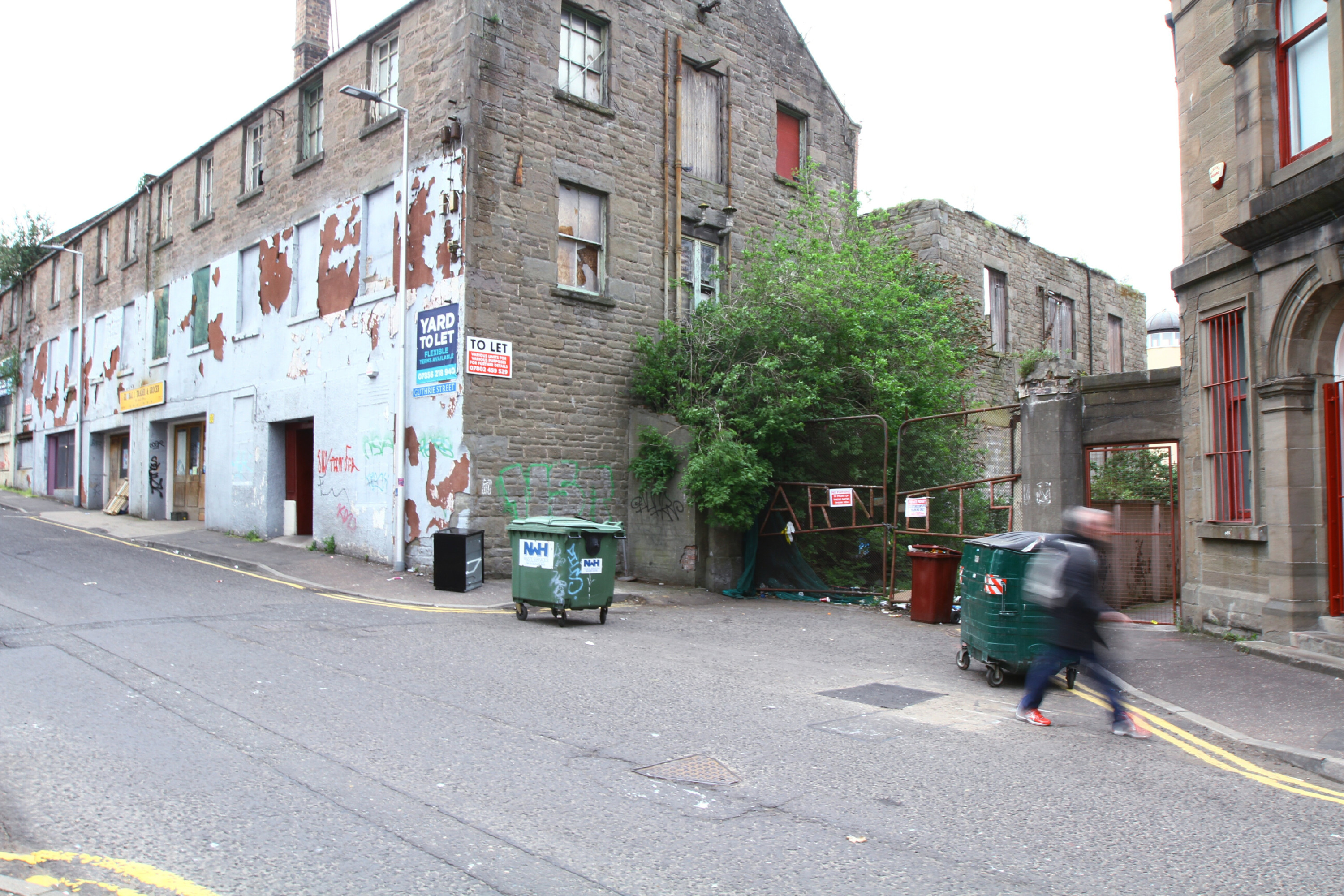 The disused site in Guthrie Street.