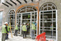 The entrance to the restaurant takes shape at the new Hotel Indigo in Dundee