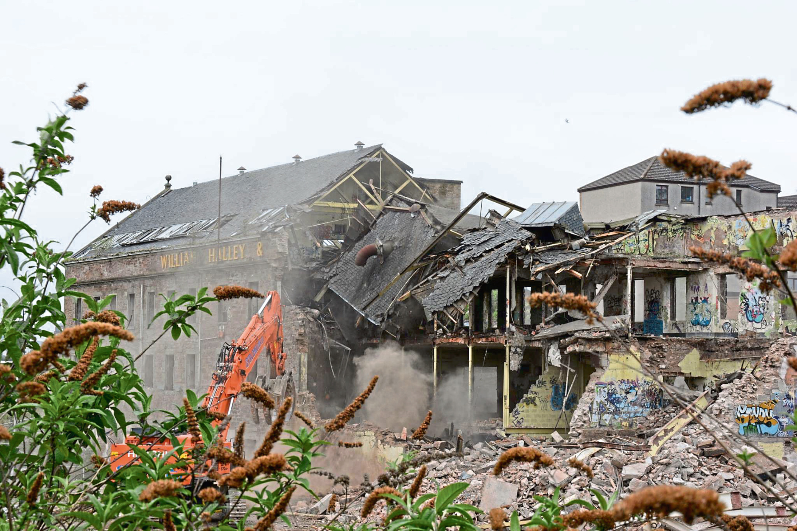 The demolition of Halley's jute mill
