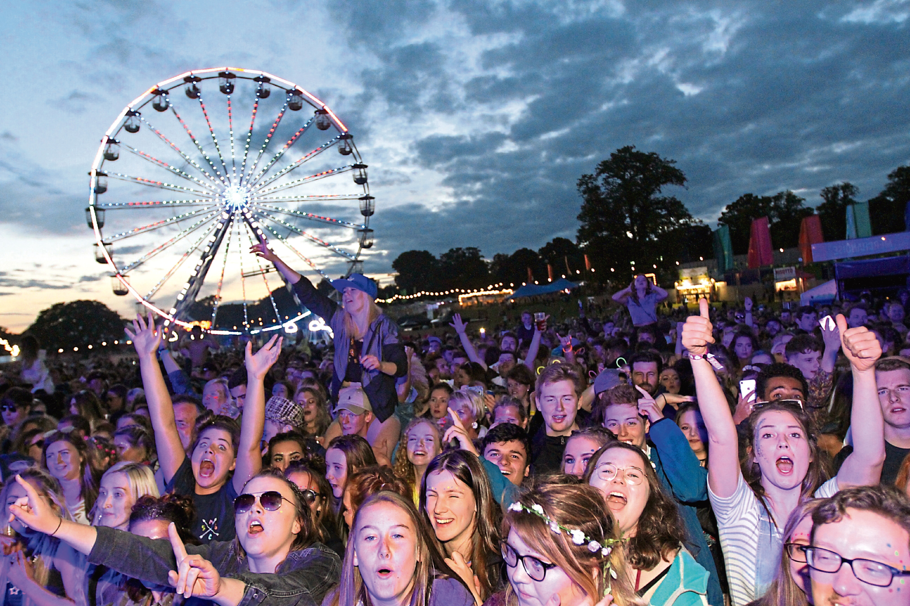The crowds enjoying Carnival Fifty-Six at Camperdown Park in 2017.