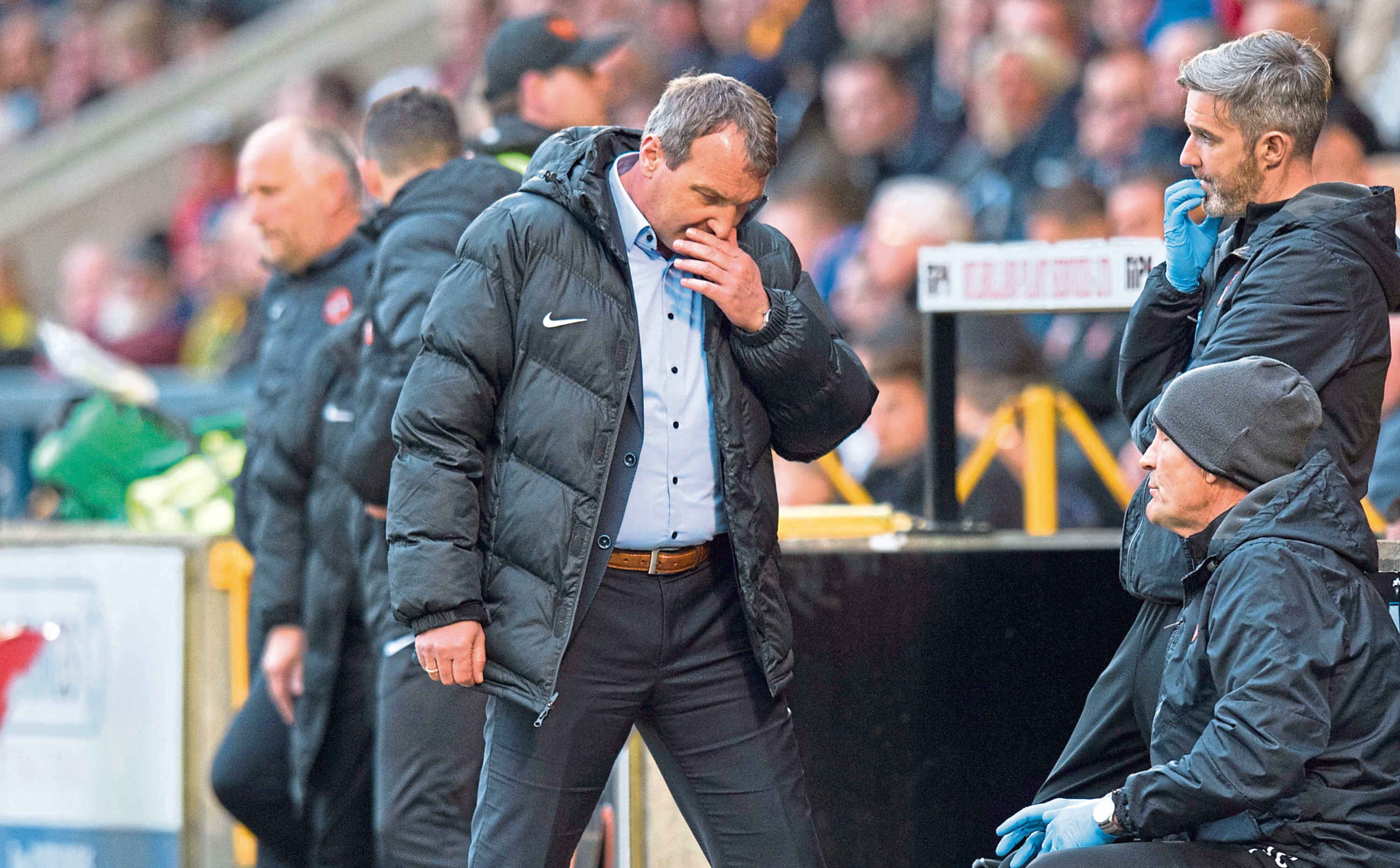 Dundee United boss Csaba Laszlo will ring the changes